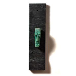 Bronzefigur. Ansigt 01