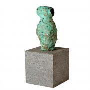 Bronzeskulptur. Vase 01a.