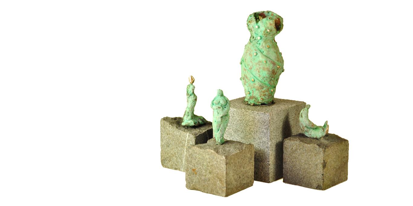 Bronzeskulpturer af Bo Kalvslund