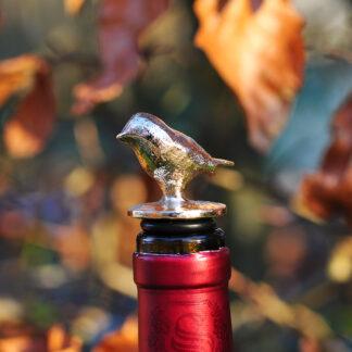 Vinprop. Fugl bronzefigur.