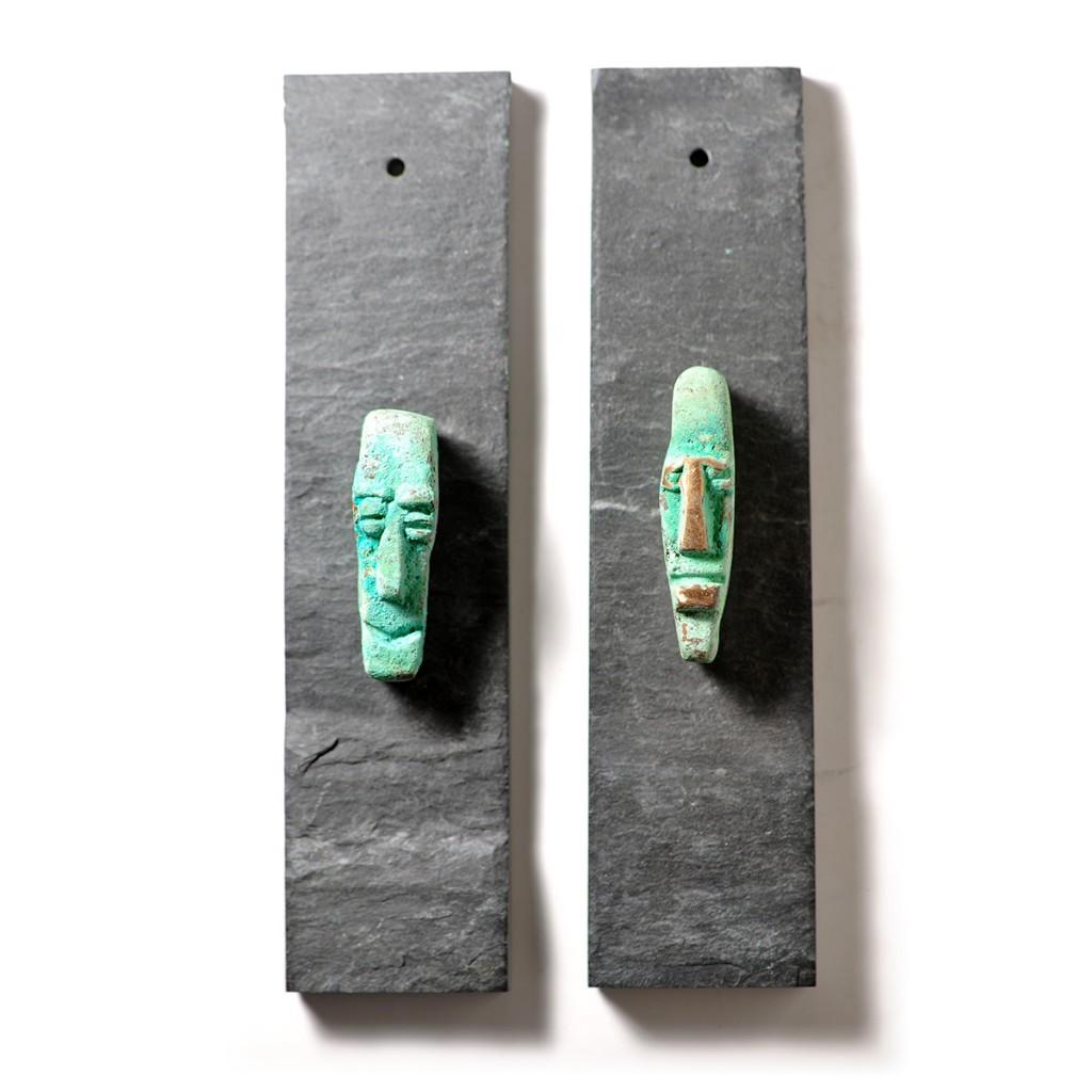 Bronzeansigter-2stk
