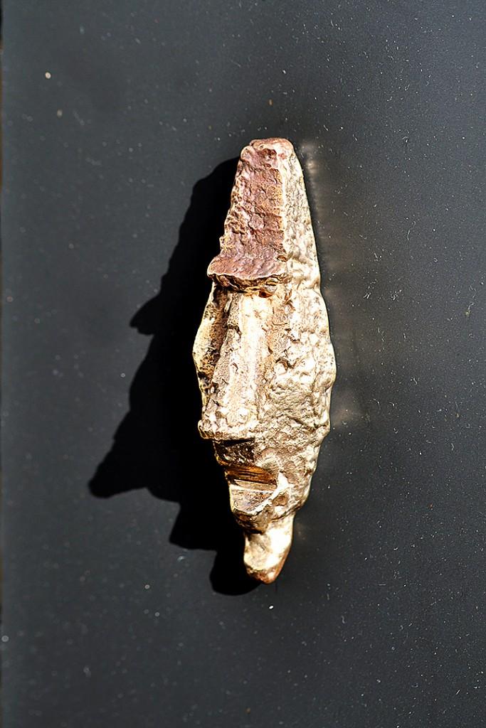 Bronzeskulptur - Ansigtet.