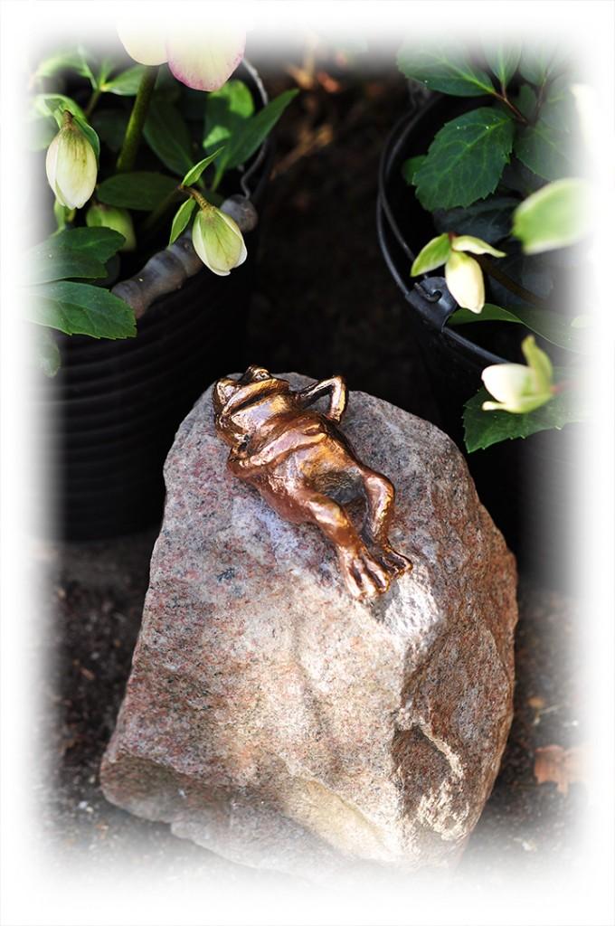 Bronzeskulpturer - Frøen.