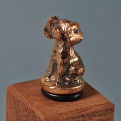 Vinprop i bronze - hund.