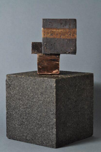 Bronzeskulptur - 3 kuber. Skulpturer til hjemmet.