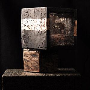 Arkitektur-skulptur i bronze