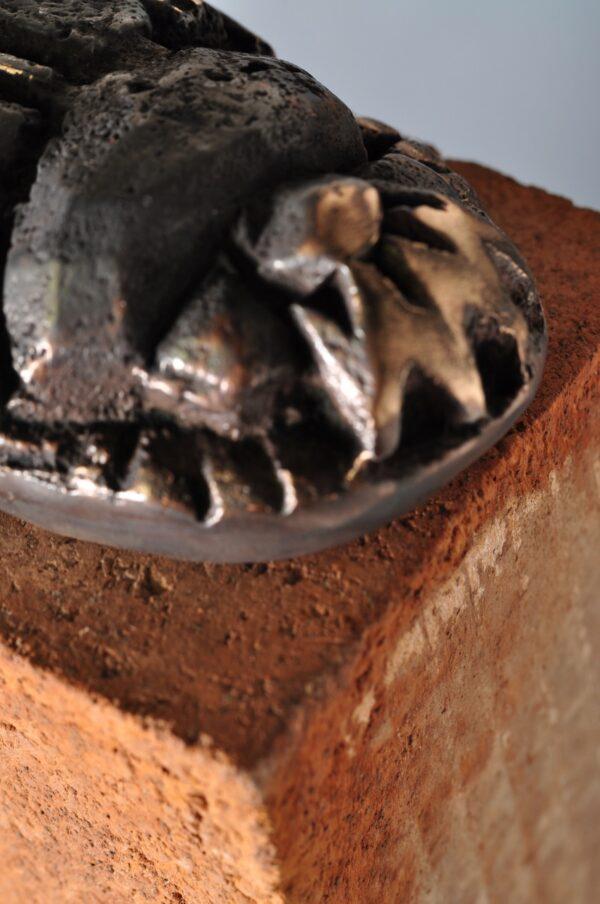 Skarabæ bronzeskulptur