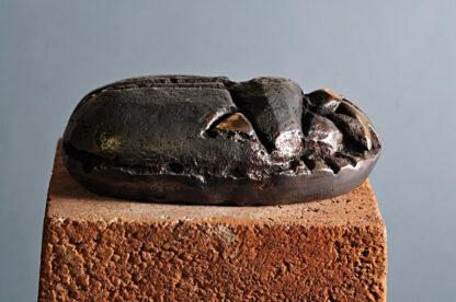 Scarab bronzeskulptur.