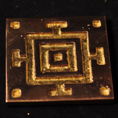 Mandala - blank bronze med bladguld