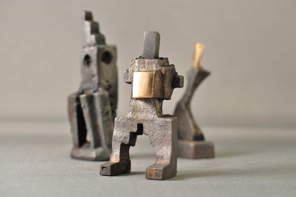 Square - bronzeskulptur