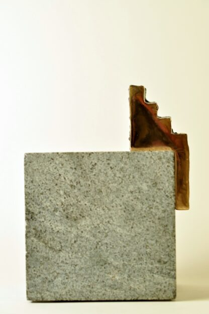 Trappemand-Bronzeskulptur