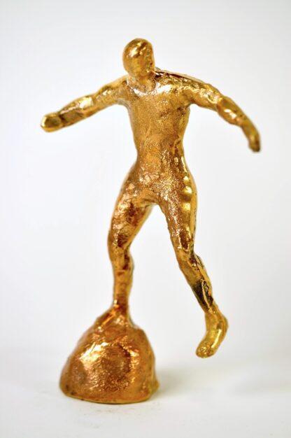Fodboldspiller i bronze