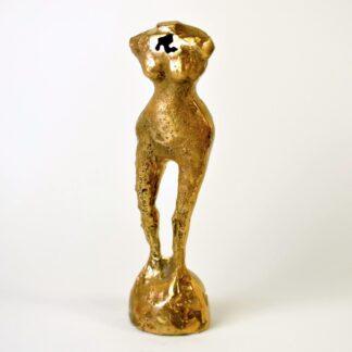 Kvindetorso i bronze
