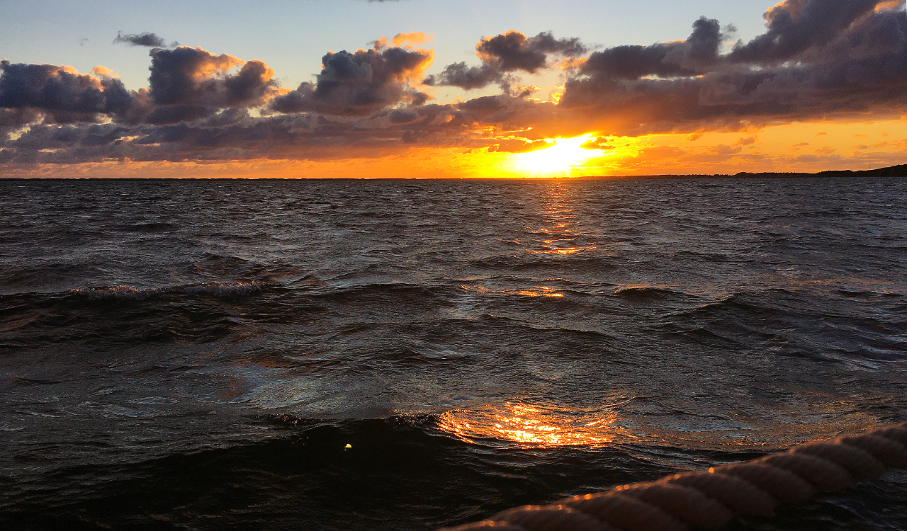 Solnedgang. Nationalpark Thy