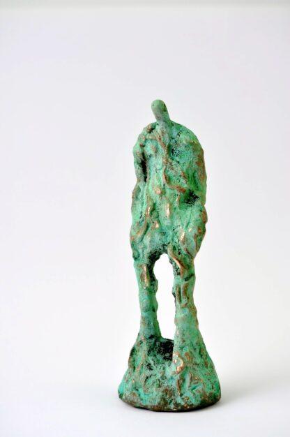 Mand med rødder - bronzefigur.