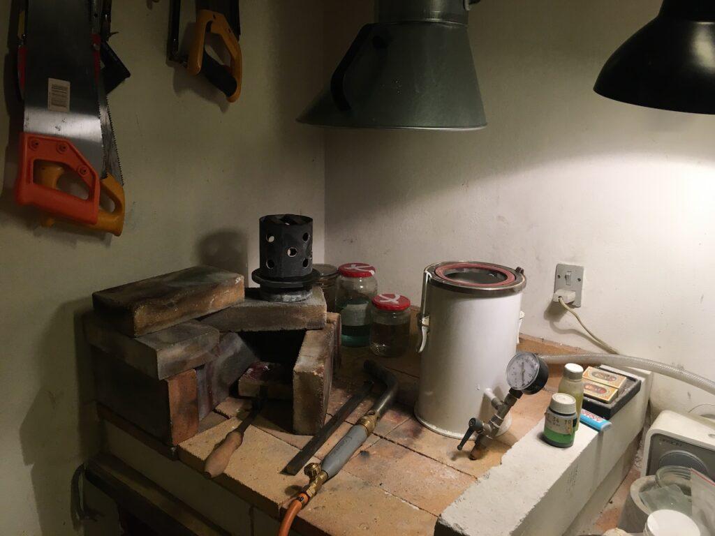 Værktøj til bronzestøbning.