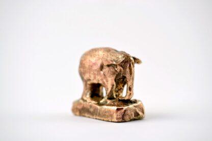 Elefant - bronzeskulptur