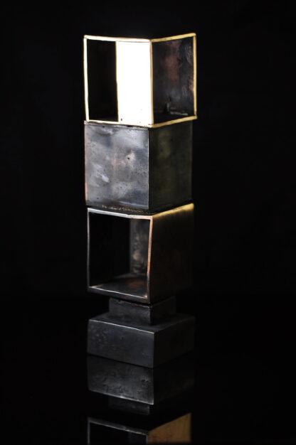 3 kuber - bronzeskulptur