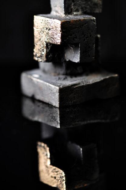 5 kuber - bronzeskulptur