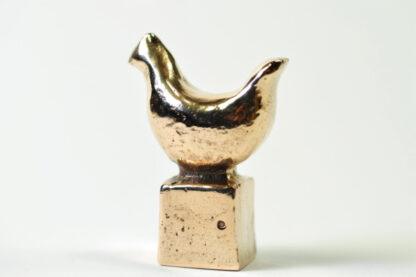 Høne - bronzefigur.