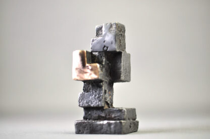 4 kuber - bronzeskulptur