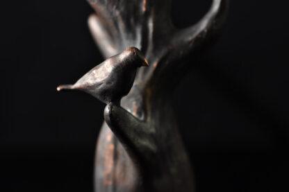 Fugle i træet - Bronzeskulptur