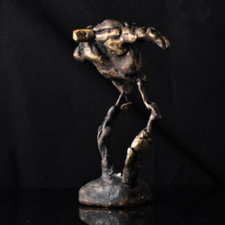 Viljestyrke - bronzeskulptur